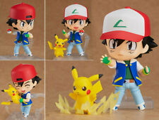 Japan Anime Nendoroid 800 Pokemon Ash Ketchum Pikachu Action Figure 10cm NoBox