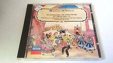 """CHARLES DUTOIT """"MANUEL DE FALLA El sombrero de tres picos"""" CD 3 TRACKS 424 501-2"""