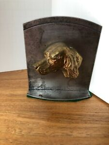 Brass  Spaniel Metal  Book End