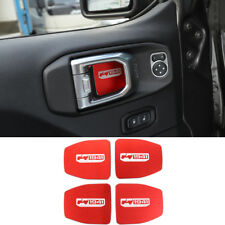For Jeep Wrangler 2018 JL 4-Door Red Inner Door Handle Bowl Decor Sticker Cover