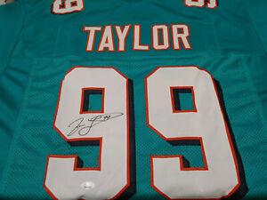 Miami Dolphins Jason Taylor Signed Custom Jersey JSA COA