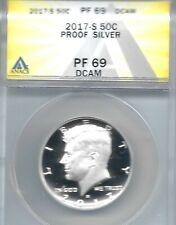 2017-S San Francisco Silver Proof Kennedy Half Dollar ANACS PF 69