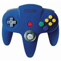 Nintendo 64 N64 Controller - Blue - For N64 Video Game Console