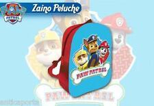 Borsa Zaino Paw Patrol 3D originale peluche Zainetto Chase Marshall e Rubble