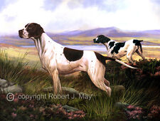 Original Pointer Painting by Robert J. May
