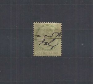 Tobago – 1870 – 1sh green – (Scott 4) – Used – Well Centered - CV=$80