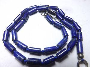 Royal Blue Natural  Lapiz Lazuli Polished Tubes Strand Afghanistan