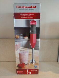Kitchenaid 2-Speed Immersion Hand Blender, Empire Red, KHB1231ER NEW! OPEN BOX