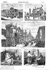 Parigi 1878 esposizione universale del 11 ORIG. xylographien 1881 (lavagne) Rue des Nations