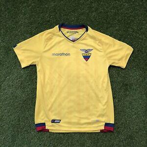 Ecuador Authentic Marathon FEF Yellow Football Soccer Jersey size small