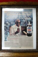 """Framed Diet PepsiCo Ray Charles Sweepstakes Advertisement  8 X 11"""""""
