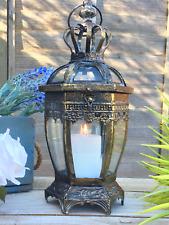 38cm Antique Vintage Style Moroccan Garden Lantern Candle Holder Moorish Home