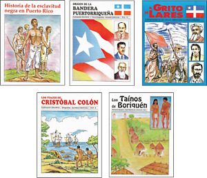Brand new lot of 5 books of Puerto Rico history books for kids