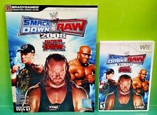 WWE SmackDown vs. Raw 2008 ECW Nintendo Wii Wrestling Game + Strategy Guide Book
