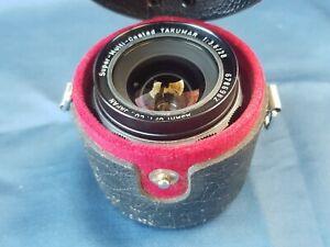 Asahi Pentax Super-Multi-Coated Takumar 1:3.5/28mm 35mm SLR Camera Lens & Case