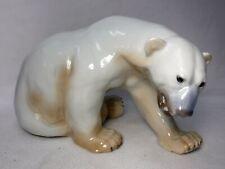 "BING & GONDAHL figurine LARGE Sitting POLAR BEAR #1857 - 8-1/2"" x 14-1/2"""