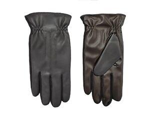 Isotoner Men's Sleekheat Faux Nappa with Gathered Wrist Glove - A70199