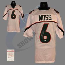 Miami Hurricanes, Santana Moss signed custom style jersey (white) w/JSA