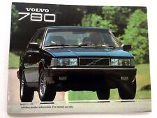 1987 Volvo 780 Bertone Coupe Original Car Sales Brochure Product Guide