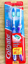 2 pcs Colgate SlimSoft Toothbrushes Extra Clean Reaches Back Teeth Soft