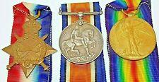 WW1 THREE-MEDAL GROUP 1914/18 WAR MEDAL*1914/15 STAR*1914/19 VICTORY MEDAL*