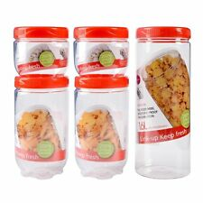 5Piece Dry Food Storage Container Large Plastic Box Cereal Dispenser Pasta Snack