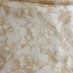 7 yards cotton fabric Beautiful Borders & Backgrounds tan and ivory floral
