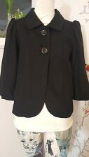 URBAN OUTFITTERS LUX Black Wool Vintage Style Two Button Jacket Coat Sz. S.