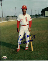 Carlos May Chicago White Sox Autographed 8x10 Baseball Photo With Inscription