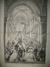 TUILERIES GRAND ESCALIER BAL DE LA COUR ILE MAURICE MT PETER-BOTTE GRAVURES 1860