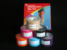 3NS Kinesiology Sports Muscle Care Tex Tape - 9 rolls