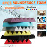 4PCS 12''x12''x2'' Wedge Acoustic Studio Sponge Soundproofing Foam Wall Tiles