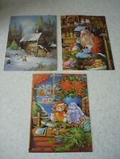 LOT de 3 CARTES de NOEL fantaisies avec enveloppes - NEUVES