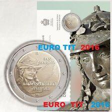 2 €    SAINT MARIN    COMMEMORATIVE     2016 .  85  000 EX   RARE  /  DISPONIBLE