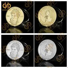 2Pcs Last Rose of England Gold/Silver Diana Princess Of Wales Souvenir Coin
