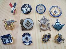 Hot sell Lot of 12 PCS  Masonic Lapel Pins Badge Mason Freemason B4