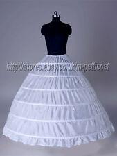 WHITE 6-HOOP BRIDAL WEDDING GOWN PETTICOAT SLIP  crinoline  wedding dress