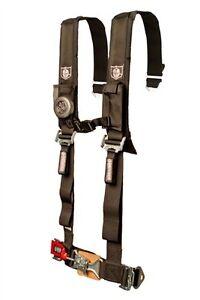 "Pro Armor Seat Belt Harness 5 Point 2"" Padded Black Arctic Cat Prowler Wildcat"