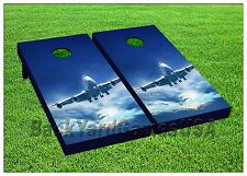 AIRPLANE Custom Cornhole Boards Bags BEANBAG TOSS GAME Plane Pilot Aviation 213