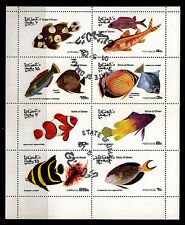 OMAN - Sheet Of 8 Colorful Fish Stamps - Non-Scott Cinderella Issue - CTO