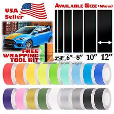 Matte Color Racing Stripes Vinyl Wrap Sticker For Ford Focus Stripe 25FT / 50FT