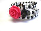 Sugar Skull Bracelet Day Of The Dead Halloween Bracelet Black And White