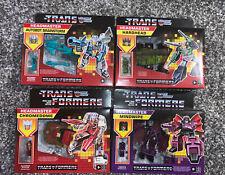 Transformers Headmaster Reissue Hardhead Chromedome Brainstorm Mindwipe Set of 4