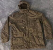 60b31eb98fcb Lacoste Mens Size 56 Black Hooded Coat Full Zip Winter Jacket