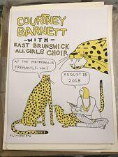 COURTNEY BARNETT original Limited Edition Concert Poster Fremantle, WA 08-18-18