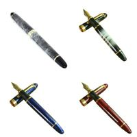 JINHAO X450 18 KGP 0.7mm broad nib fountain pen blue T7F4 t5e