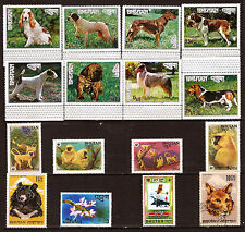 BHUTAN new: animals domestic and sauvages :chiens,monkeys,bear various E9