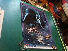 "Original Vintage Poster: Pepsi A NEW HOPE; DARTH VADER; 1996 24x36"""