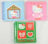 Sanrio Hello Kitty winter theme 2008 spiral notebook 40 sheets ea set 3 pcs. new