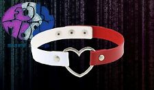 New Gothic Rock Womens Punk Faux Leather Heart Choker Necklace